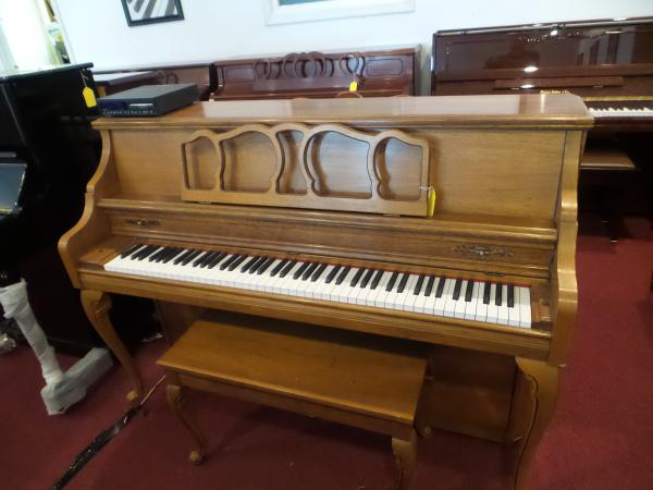 Used Kimball Console Piano with Piano Disc Player System - STK# XR17788