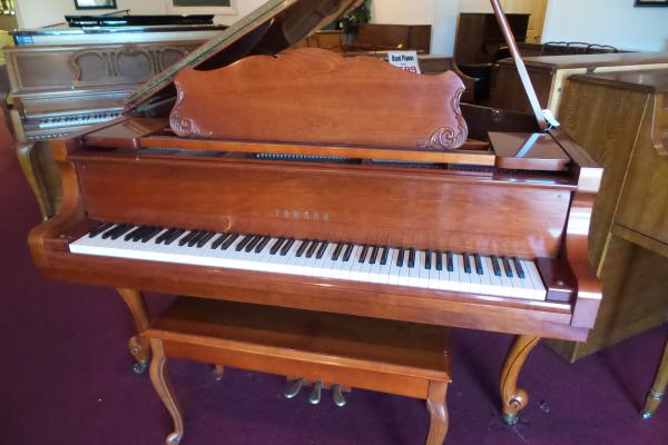 Yamaha Satin Cherry Queen Anne Grand Piano