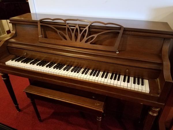HALLET DAVIS Console Piano  -  STK#  H114077