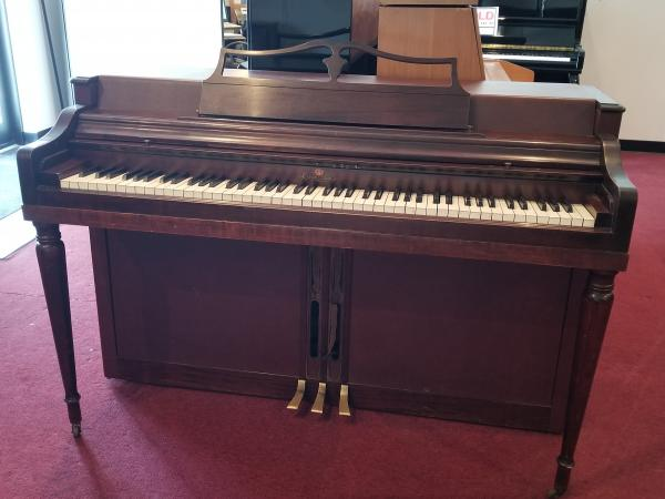 USED WURLITZER SPINET PIANO - STOCK #H427556